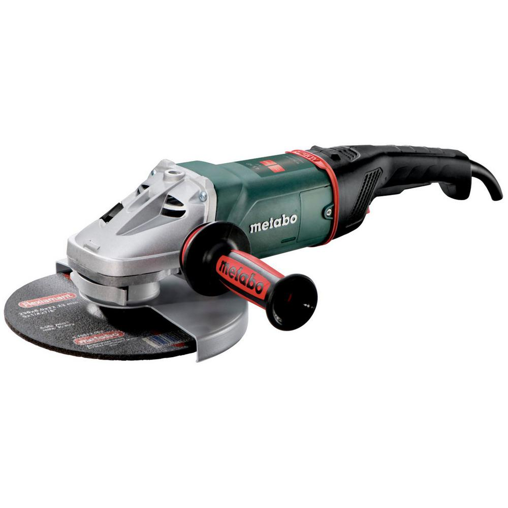 Metabo 15 Amp Corded 9 in. W 24-230 MVT Quick Angle Grinder