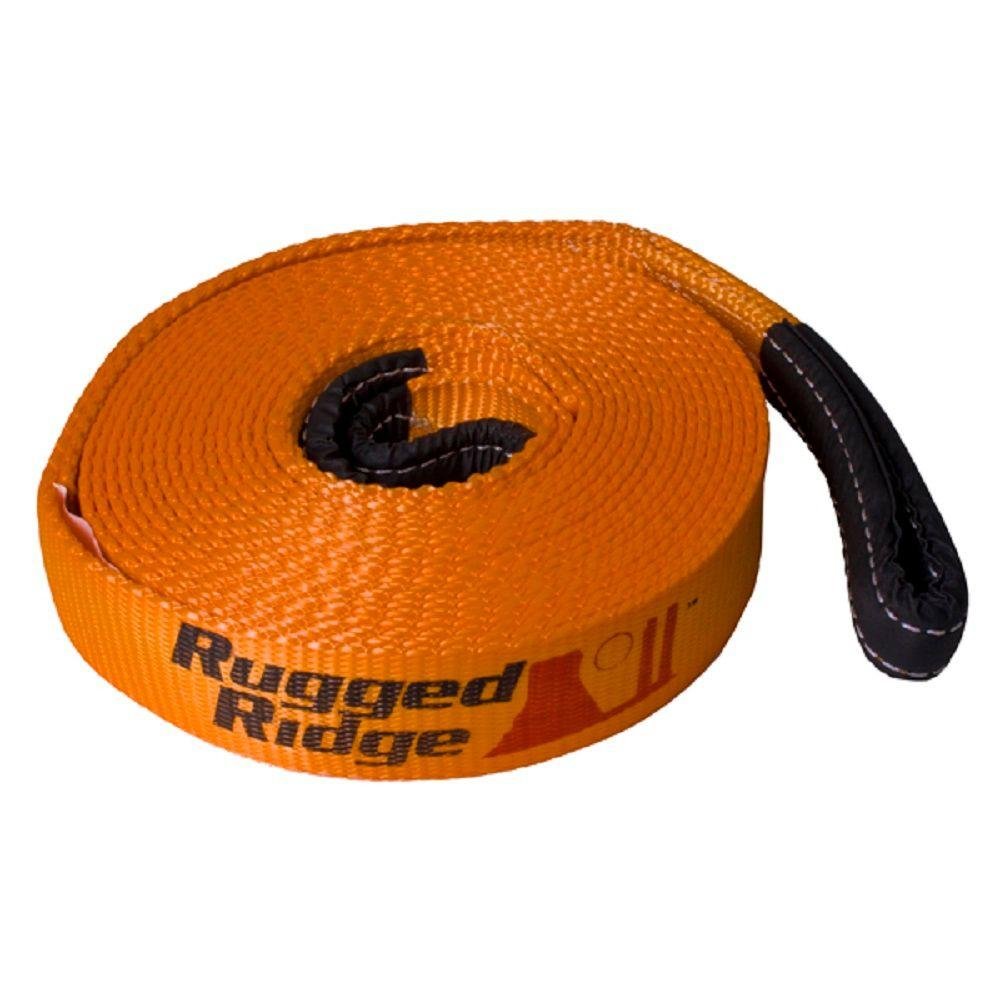 bca69562826 Rugged Ridge 2 in. x 30 ft. Recovery Strap-15104.02 - The Home Depot