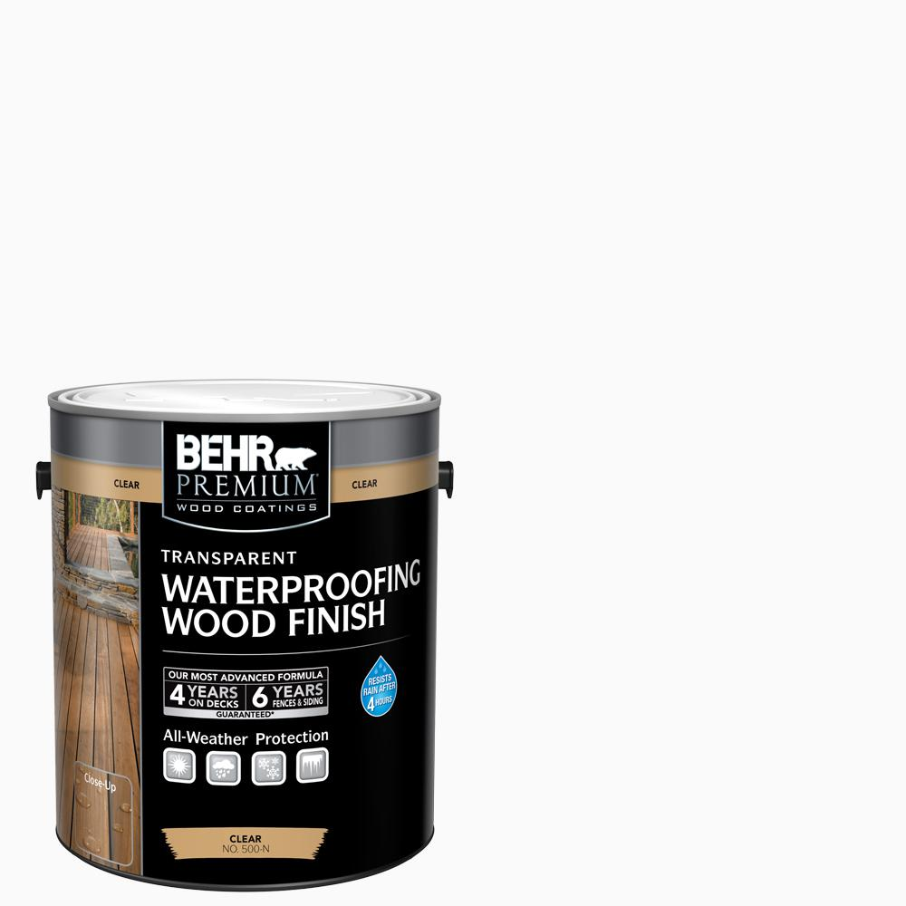 Behr premium 1 gal clear transparent waterproofing - Behr exterior wood stain reviews ...