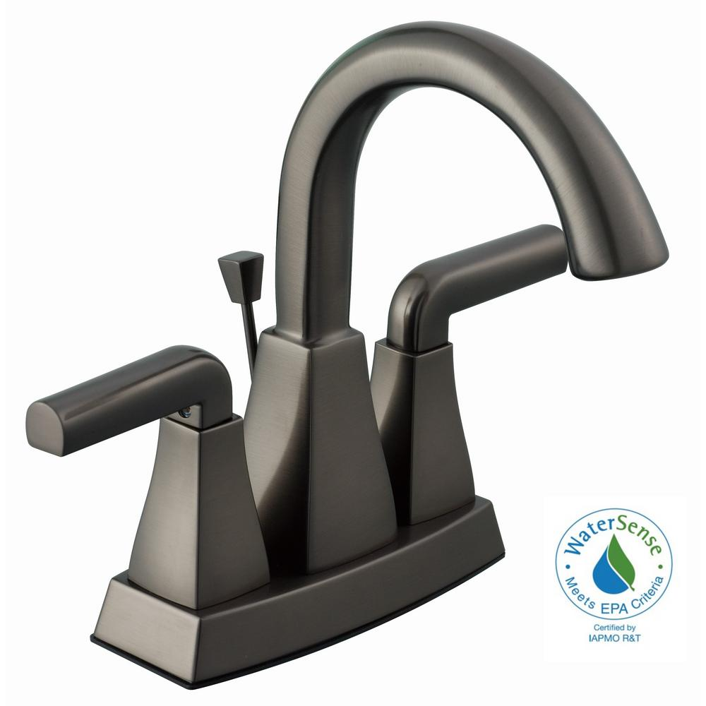 Glacier Bay Brookglen 4 In Centerset 2 Handle High Arc