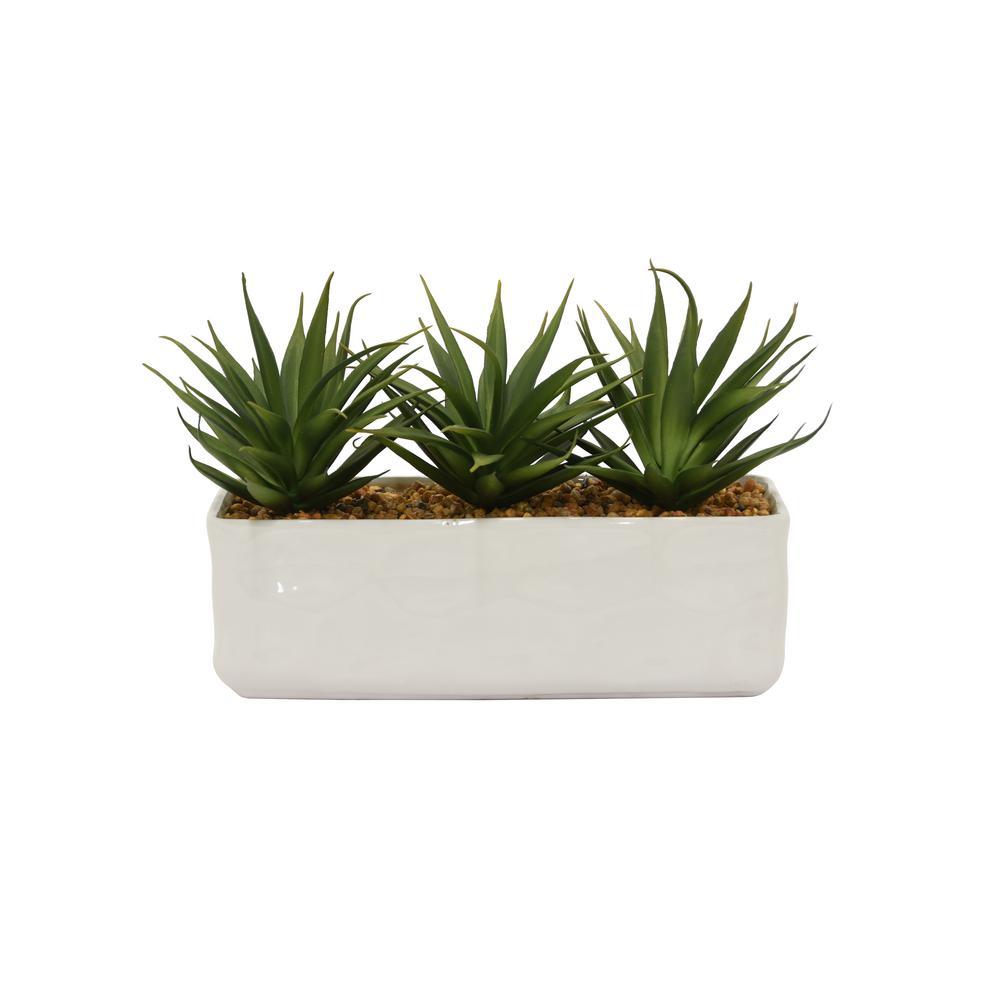 THREE HANDS Faux Succulents Pot