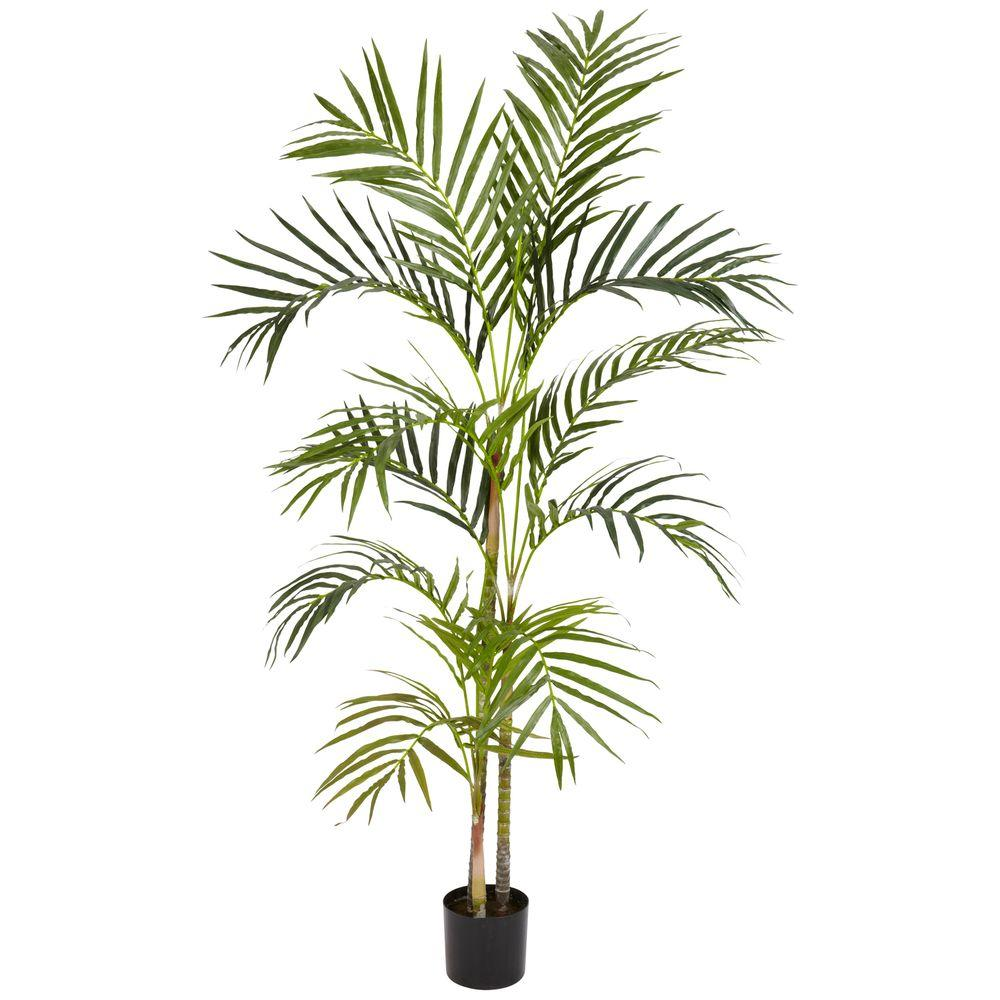 4 ft. Green Areca Palm Silk Tree