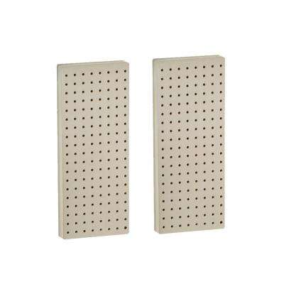 20.625 in. H x 8 in. W Almond Pegboard One Sided Panel (2-Pieces per Box)