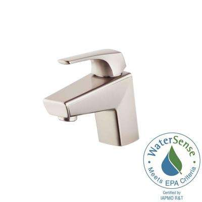 Arkitek Single Hole Single-Handle Bathroom Faucet in Brushed Nickel