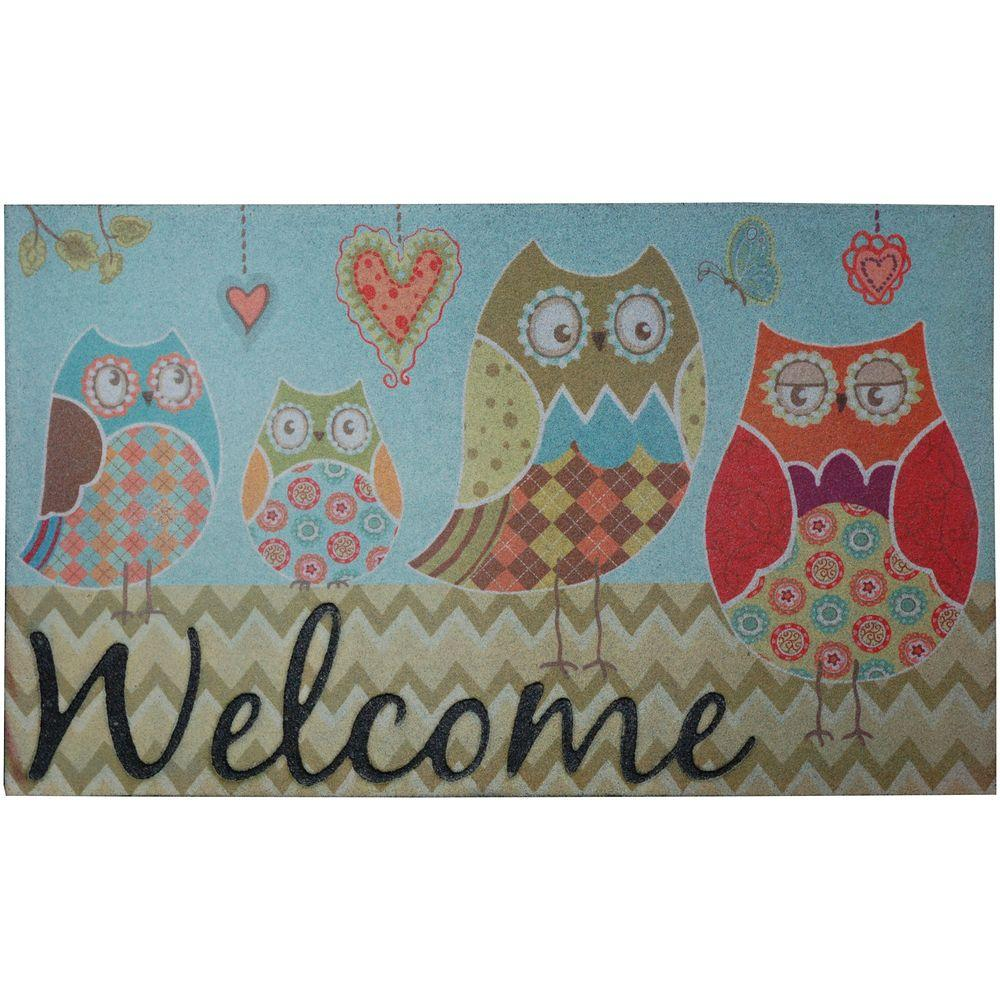 Mohawk Home Owl Wonderful 18 in. x 30 in. Recycled Rubber Door Mat-DISCONTINUED