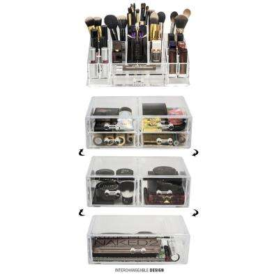 Sorbus 6.75 in. W x 15.25 in. H Stackable 1-Cube Cosmetic Organizer in Acrylic