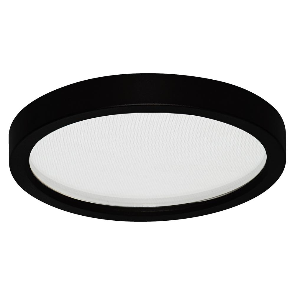 Led Slim Round Down Light Disk 7 In Black Recessed Integrated Trim Kit Fixture 3000k Warm White New Construction