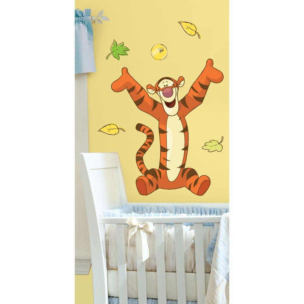 18 in. x 40 in. Winnie the Pooh - Tigger 11-Piece Peel and Stick ...