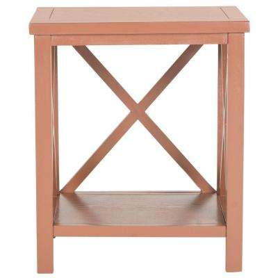 Candence Henna Brown End Table