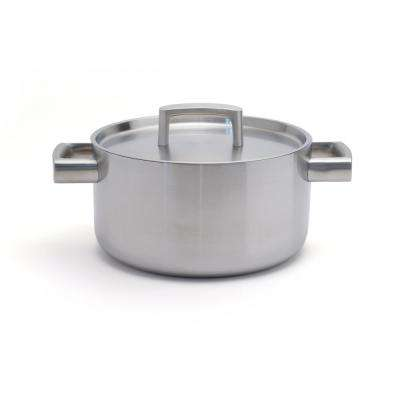 Ron 4.5 Qt. 18/10 Stainless Steel Casserole Dish with Lid
