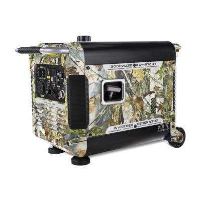 3,000-Watt Gasoline Powered Portable Camo Inverter Generator with Electric Start and Smart Paralleling (CARB Compliant)