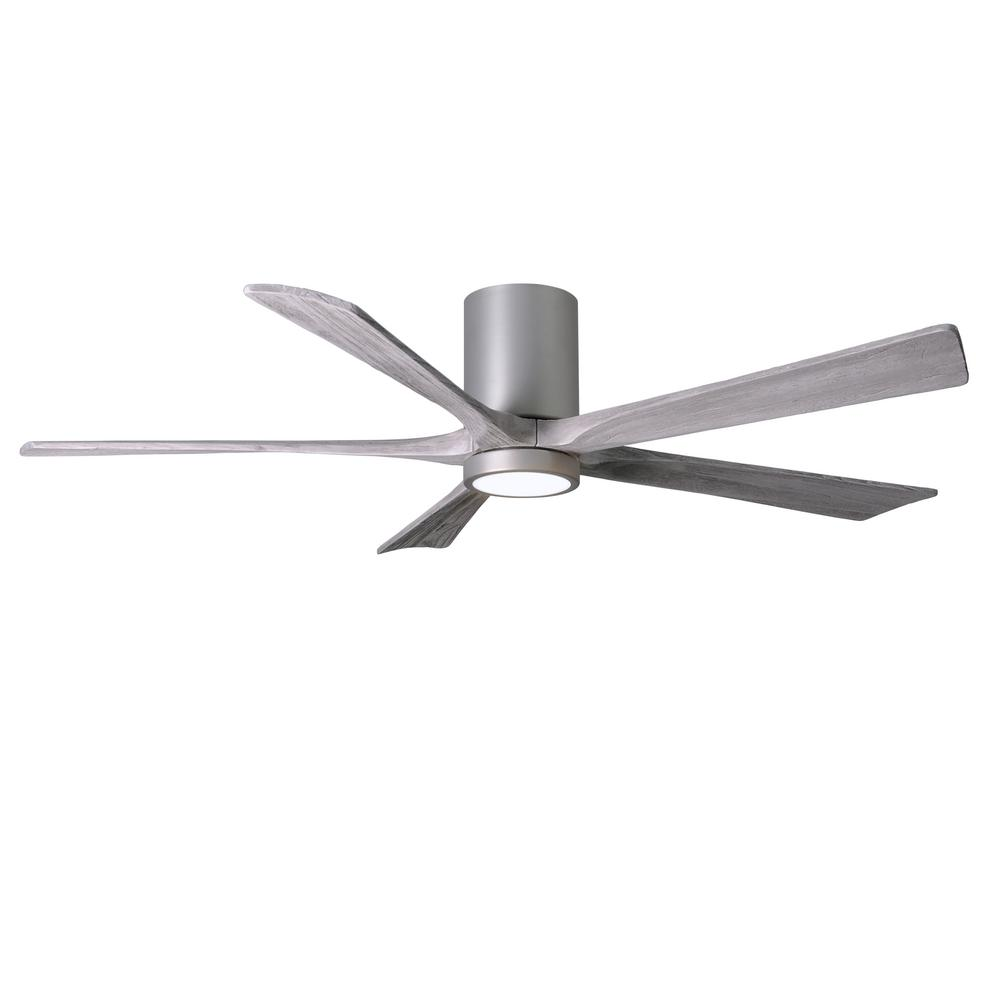 Irene 60 in. LED Indoor/Outdoor Damp Brushed Nickel Ceiling Fan with