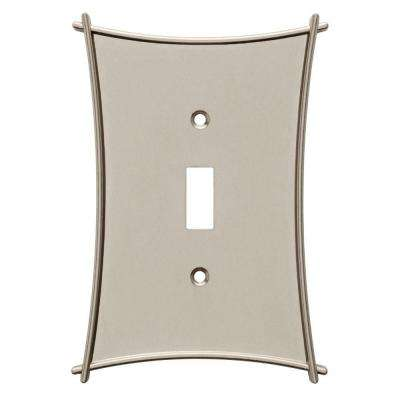 Bellaire Decorative Single Switch Plate, Satin Nickel