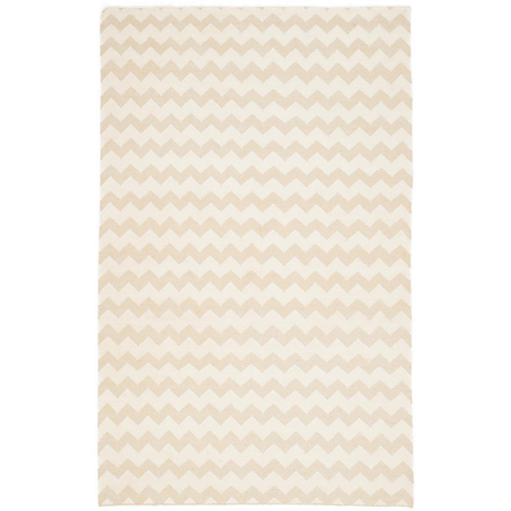 Dhurries Beige/Ivory 5 ft. x 8 ft. Area Rug