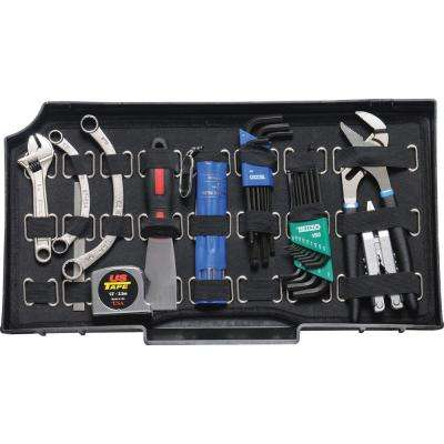 19.45 in. Tool Pallet with Strap, Black