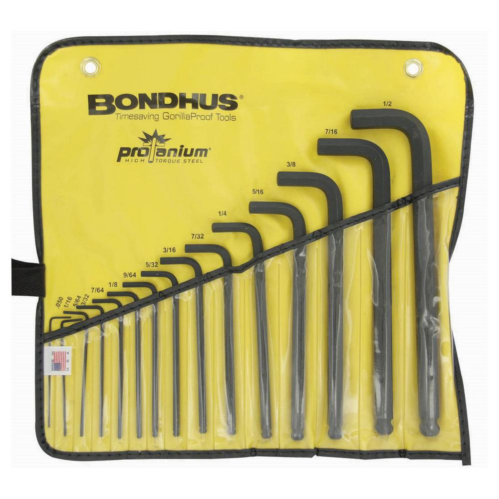 Standard Ball End Long Arm L-Wrench Set with ProGuard Finish in