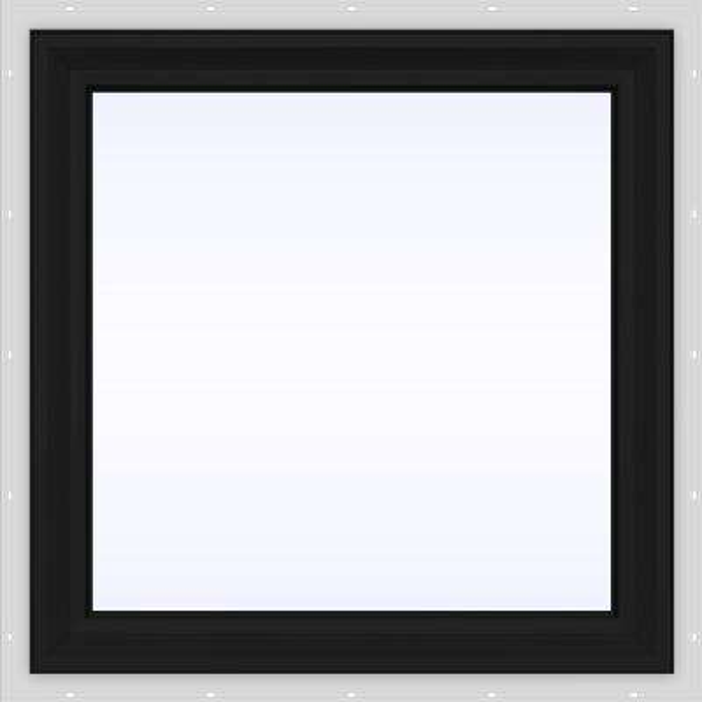 23.5 in. x 23.5 in. V-2500 Series Fixed Picture Vinyl Window - Bronze