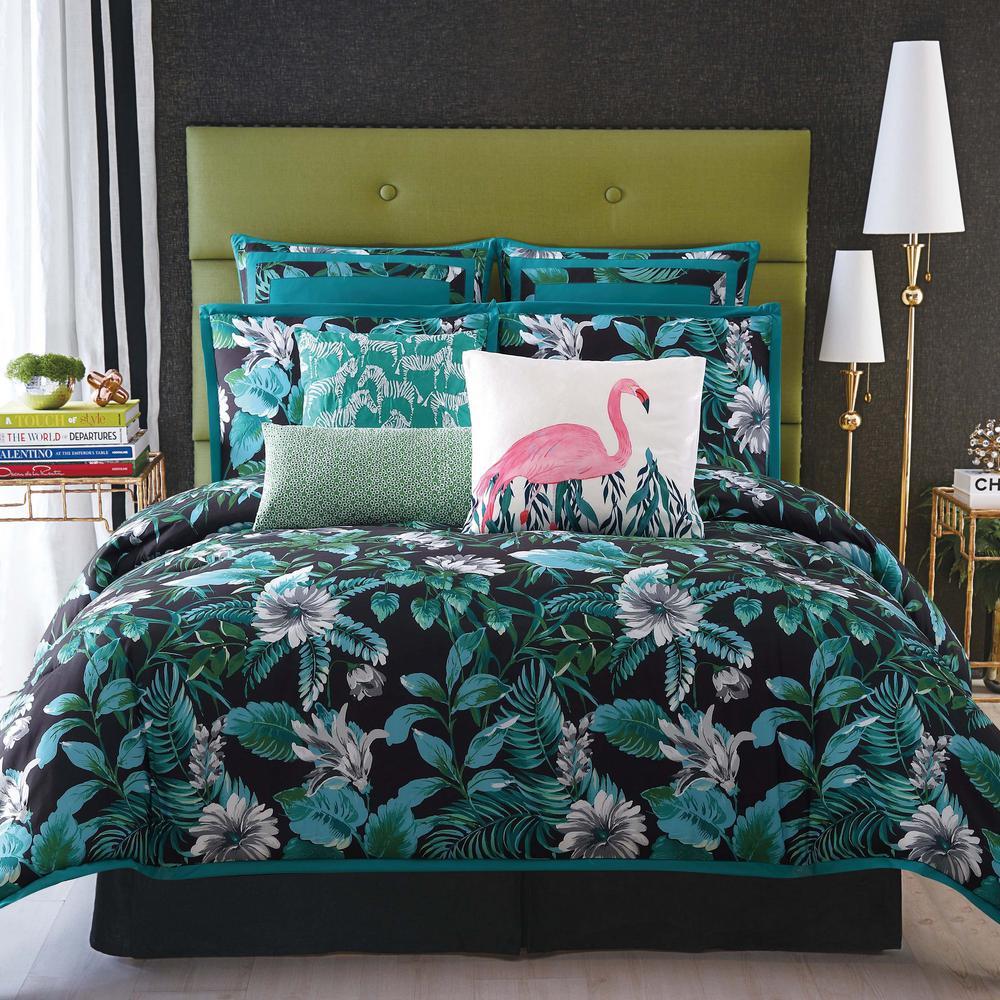 Tropicalia Black King Comforter with 2-Shams