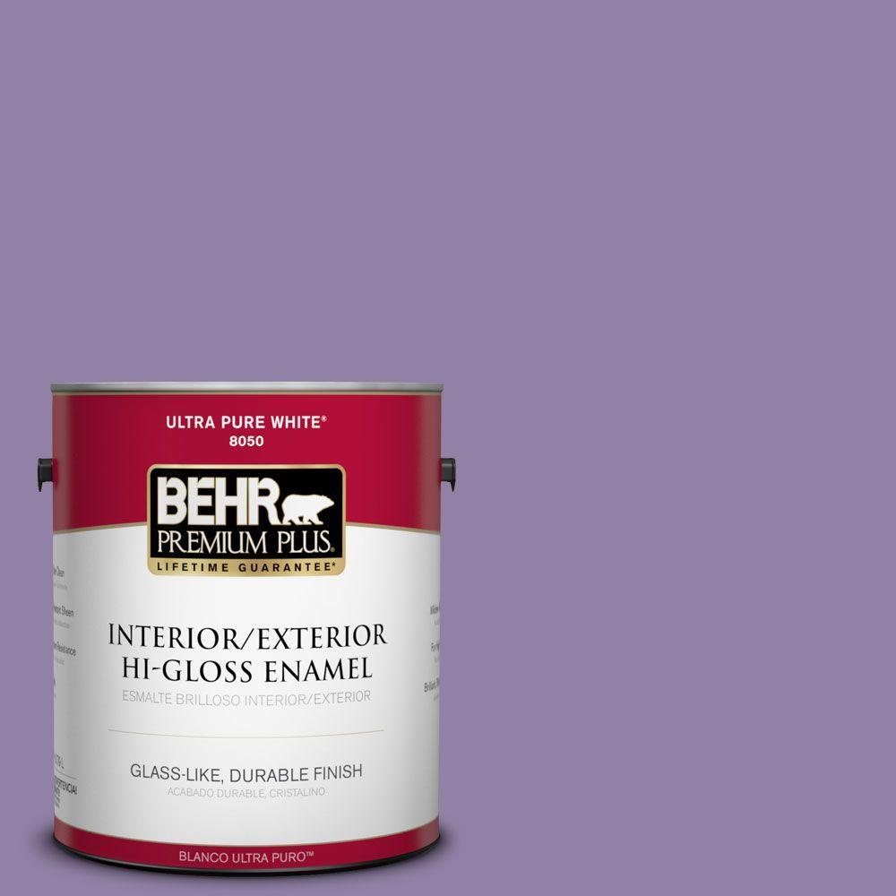 BEHR Premium Plus 1-gal. #650D-5 Fabulous Grape Hi-Gloss Enamel Interior/Exterior Paint