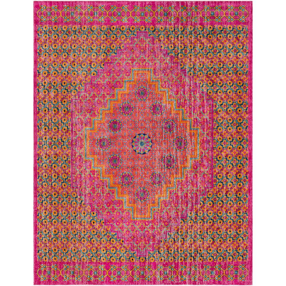 Surya Tessera Bright Pink 2 Ft. X 3 Ft. Indoor Area Rug