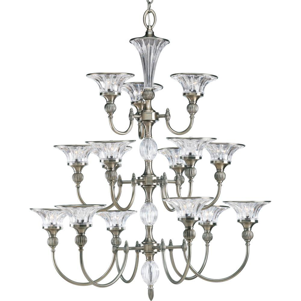 Progress Lighting Roxbury Collection 15-Light Classic Silver Chandelier