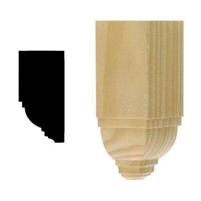 DM ICB250 1-3/4 in. x 1-3/4 in. x 4-1/2 in. Solid Pine Miterless Inside Corner Block for Crown Moulding