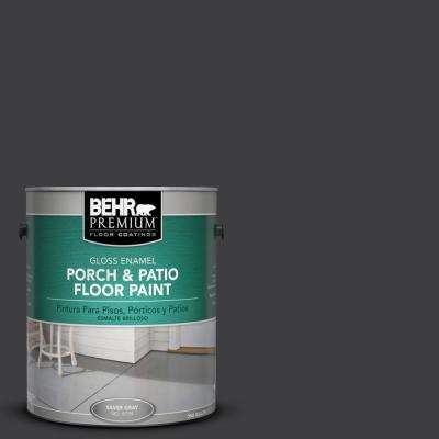 1 gal. #AE-54 Molten Black Gloss Porch and Patio Floor Paint