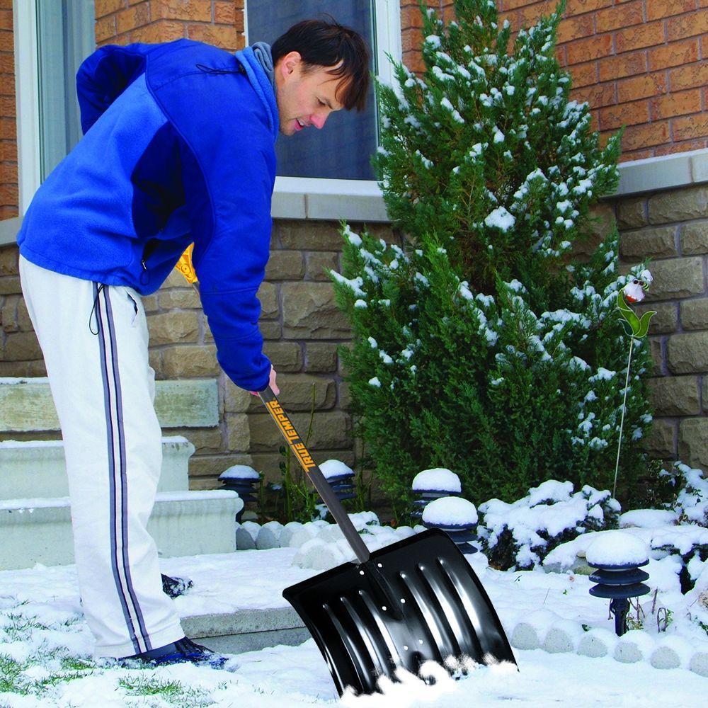 18 in. Steel Snow Shovel