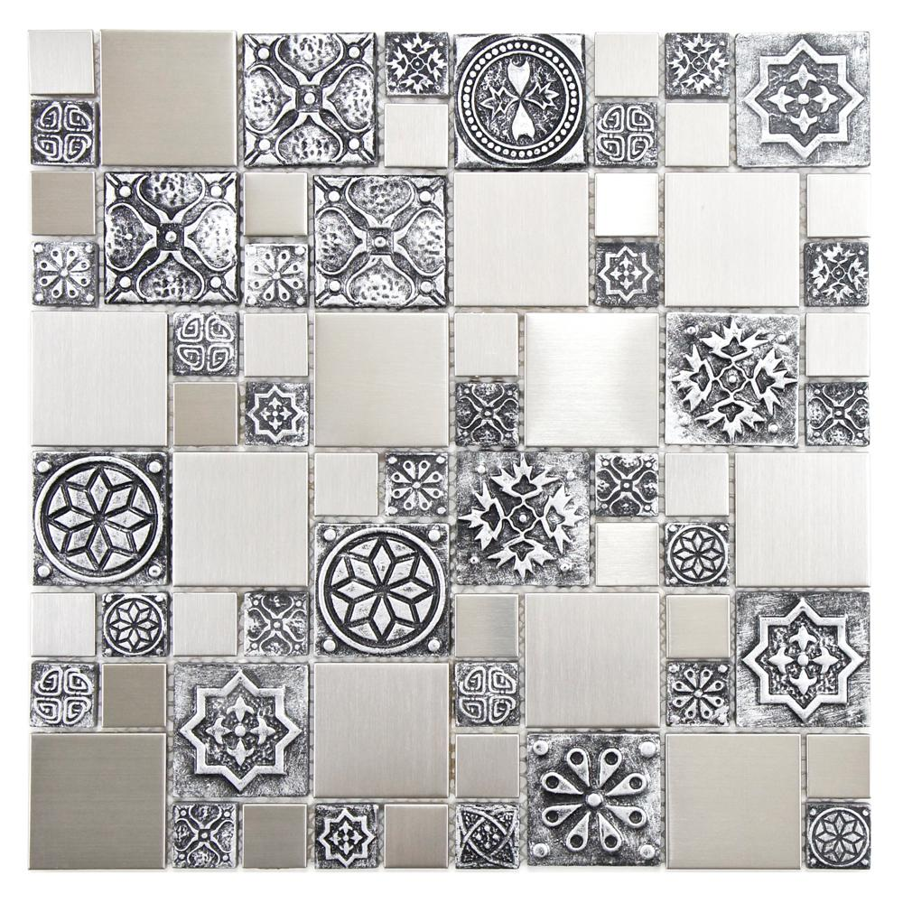 Meta Versailles 11-3/4 in. x 11-3/4 in. x 8 mm Stainless