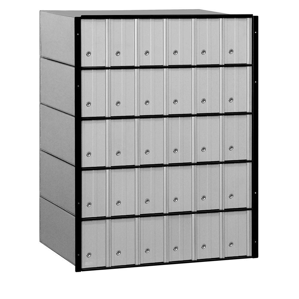 2200 Series Standard System Aluminum Mailbox with 30 Doors