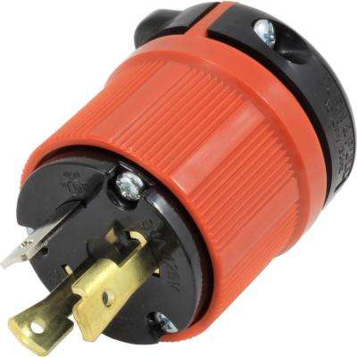 AC Connectors NEMA L5-30P 30 Amp 125-Volt 3-Prong Assembly Locking Male Plug