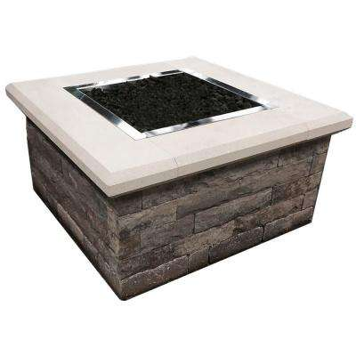 24 in. x 44 in. x 44 in. Stone Natural Gas Fire Table