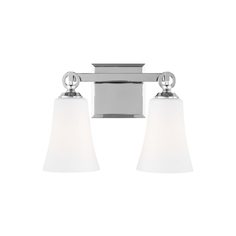 Feiss Monterro 2 Light Chrome Bath Light Vs23702ch The Home Depot