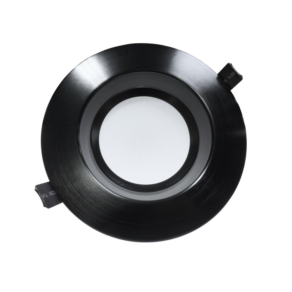 Housing-Free 6 in. Black Integrated LED Recessed Downlight Kit in 3000K