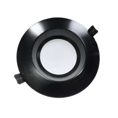 Housing-Free 6 in. Black Integrated LED Recessed Downlight Kit in 4000K