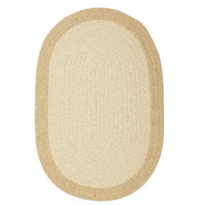 North Natural 8 ft. x 11 ft. Braided Oval Area Rug