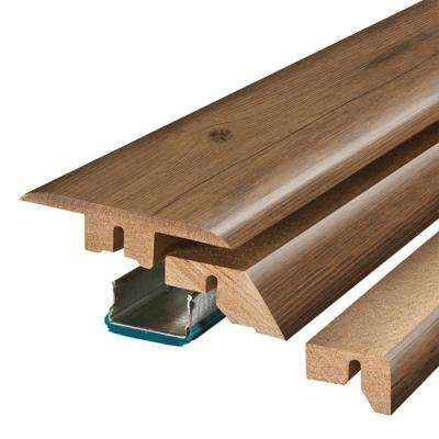 Balcony Brown Wood 3/4 in. Thick x 2-1/8 in. Wide x 78-3/4 in. Length Laminate 4-in-1 Molding