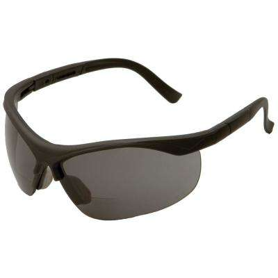 1.5 Power X Bifocal Black Frame and Gray Lens Safety Glasses