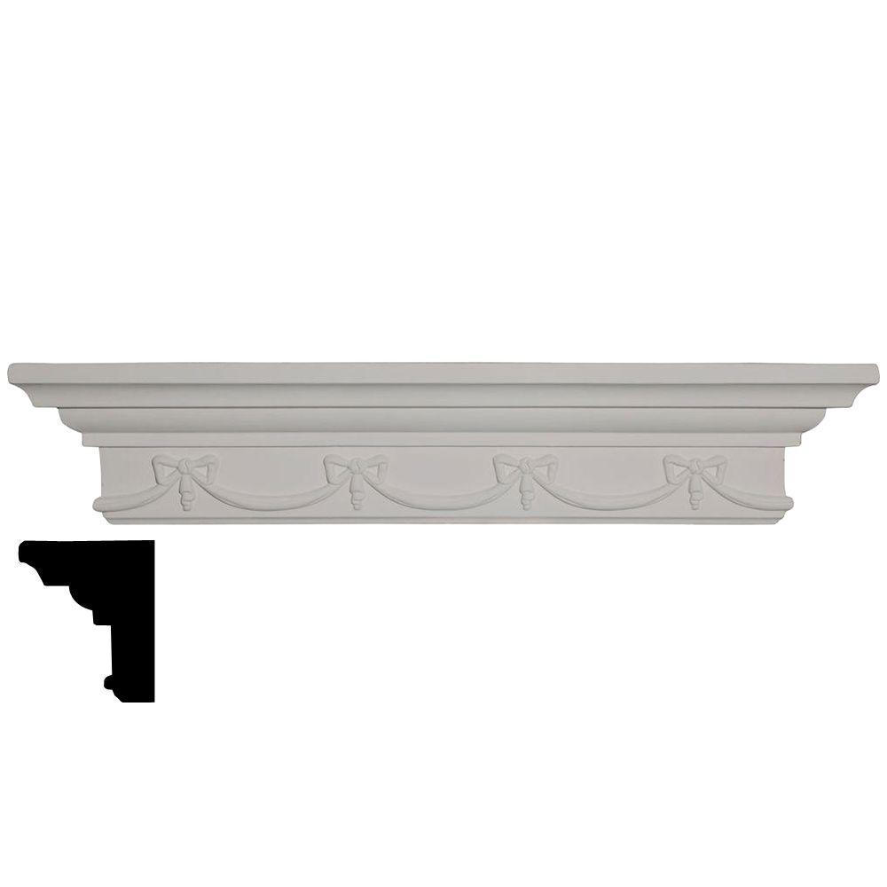 Ekena Millwork 16-1/8 in. x 22-3/4 in. x 4-3/8 in. Polyurethane Versailles Corner Shelf