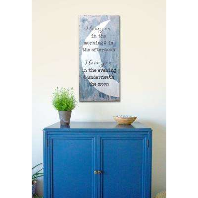 "15 in. W x 32 in. H ""I Love You Under the Moon"" by JLB Printed Wall Art"