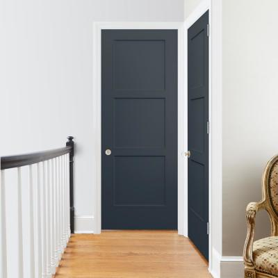 30 in. x 80 in. Birkdale Denim Stain Right-Hand Smooth Solid Core Molded Composite Single Prehung Interior Door