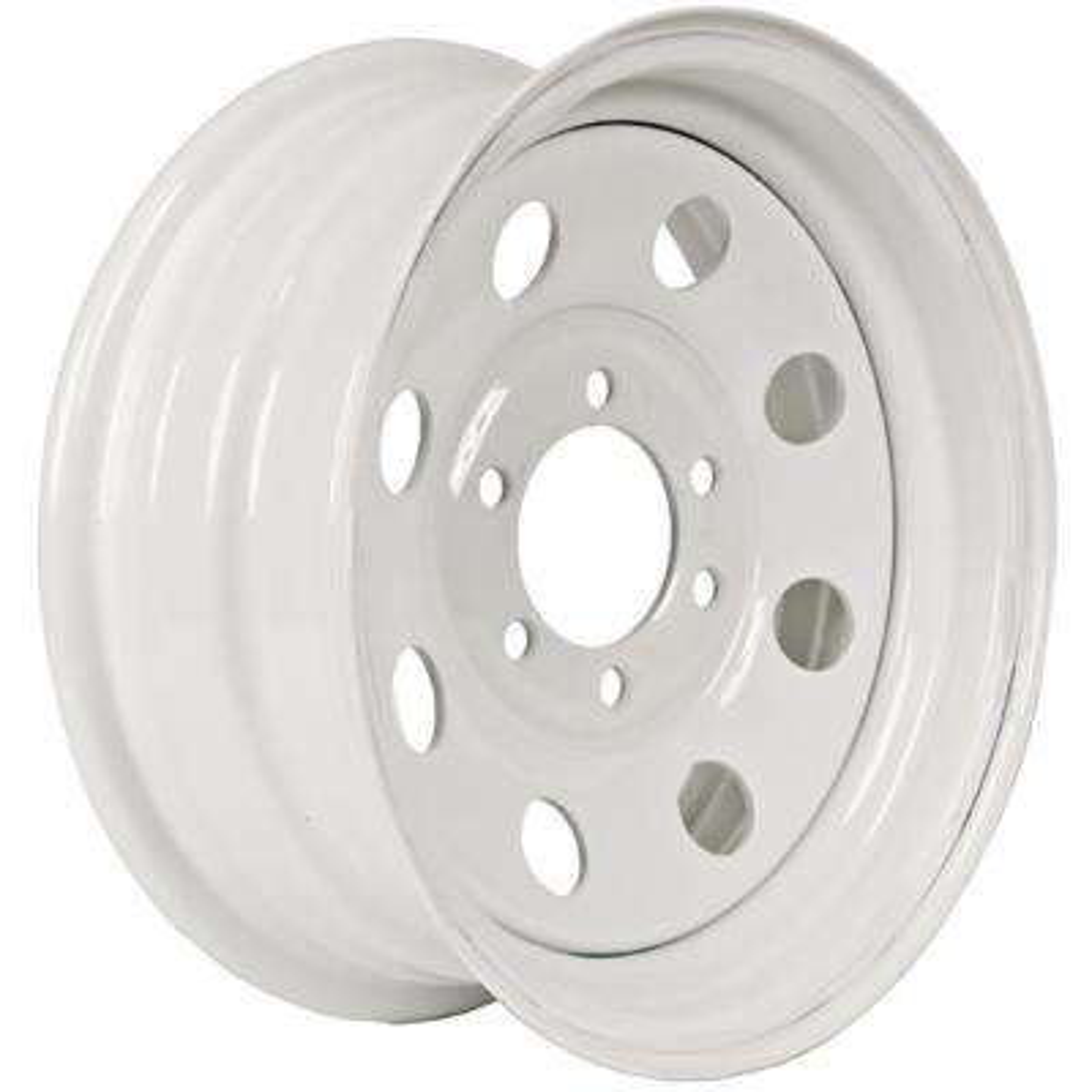 2830 lb. Load Capacity White Modular Steel Wheel Rim