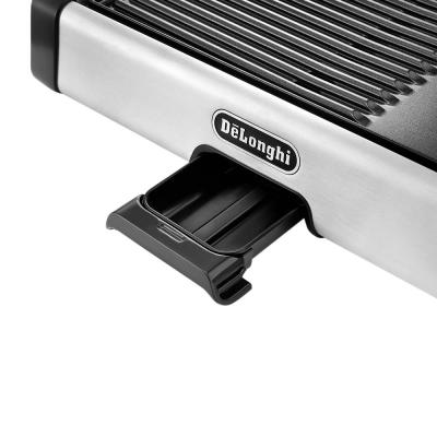 DeLonghi-2-in-1 186 sq. in. Stainless Steel Indoor Grill