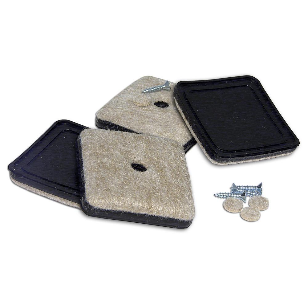 Richelieu hardware 2 1 8 in screw on felt pads 4 pack 23096 the home depot - Screw in felt pads ...