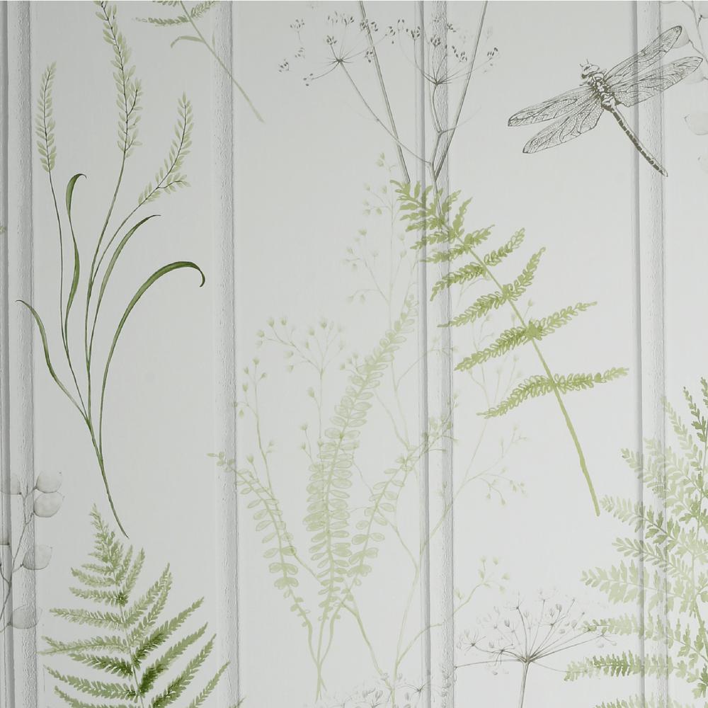Nature Panel Green Wallpaper