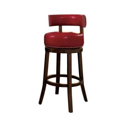 Shirley 25 in. Dark Oak and Red Contemporary Style Bar (2-Pack)