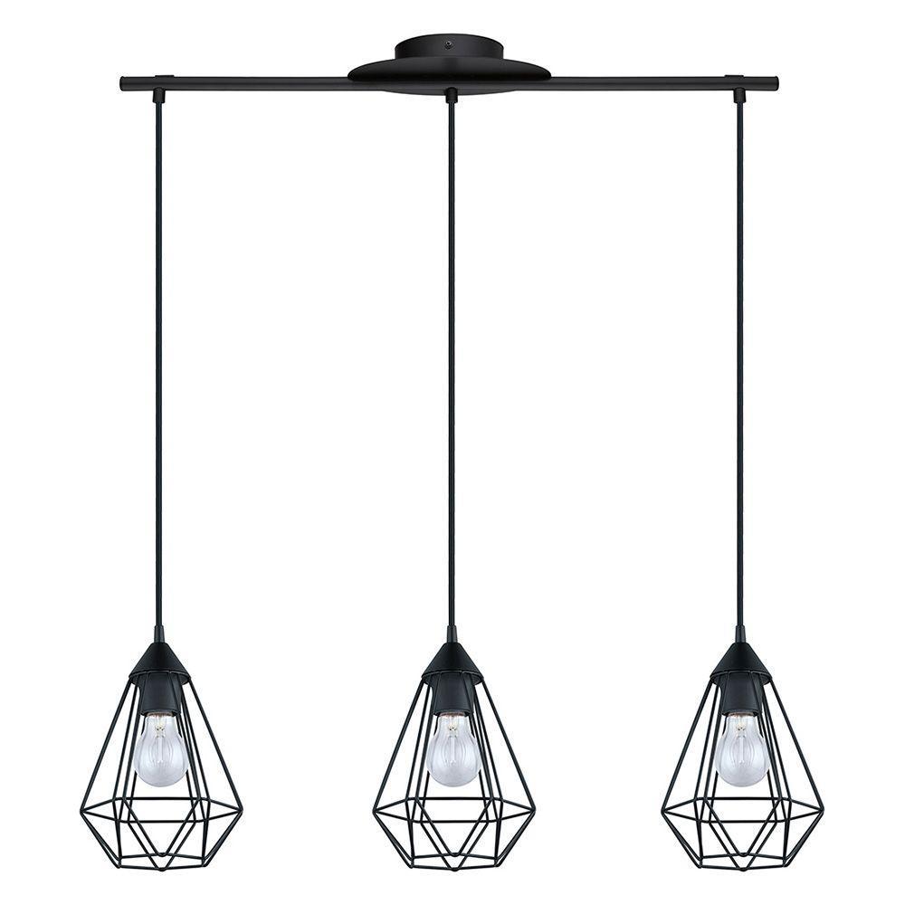 Tarbes 3-Light Matte Black Pendant