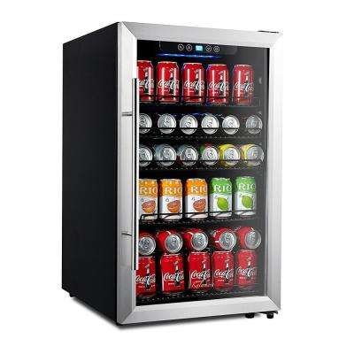 150-Can Beverage Refrigerator Stainless Steel Touch Control