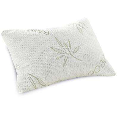 Classic Queen-Size Bamboo Rayon Cover Shredded Memory Foam Bed Pillow
