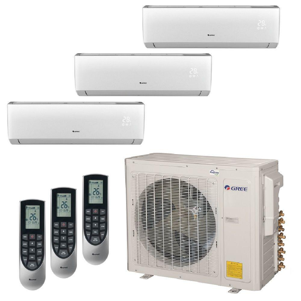 GREE Multi-21 Zone 29000 BTU Ductless Mini Split Air Conditioner with Heat, Inverter and  Remote - 230-Volt